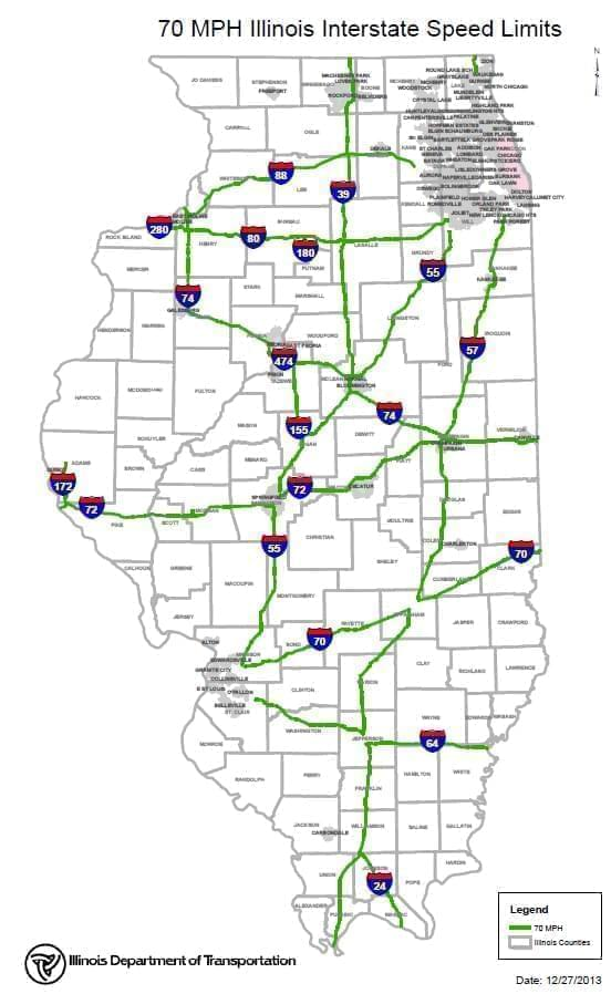 IDOT Reveals 70 MPH Areas On Illinois Interstates | News Local/State on i 39 illinois map, il 355 map, illinois oregon map, interstates in georgia map, illinois map marion il, illinois geology, i-80 illinois map, illinois road map, illinois metro map, illinois maps online, illinois expressway map, nashville tx map, illinois state map, illinois highway atlas, illinois schools map, illinois i-57 rest areas, illinois marathon map, illinois print, illinois street map,