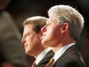 Al Gore and President Bill Clinton at Assembly Hall, January 1998
