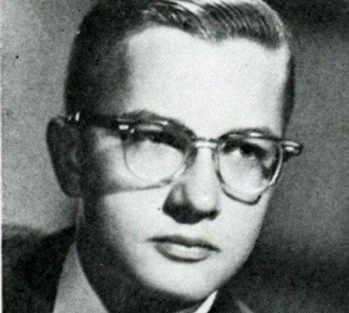 Roger Ebert in a 1960 senior class picture from Urbana High School.