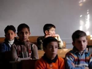 Children attend school in Aleppo on Nov. 25, 2012.