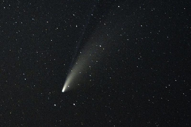 Comet NEOWISE seen on July 17, 2020.