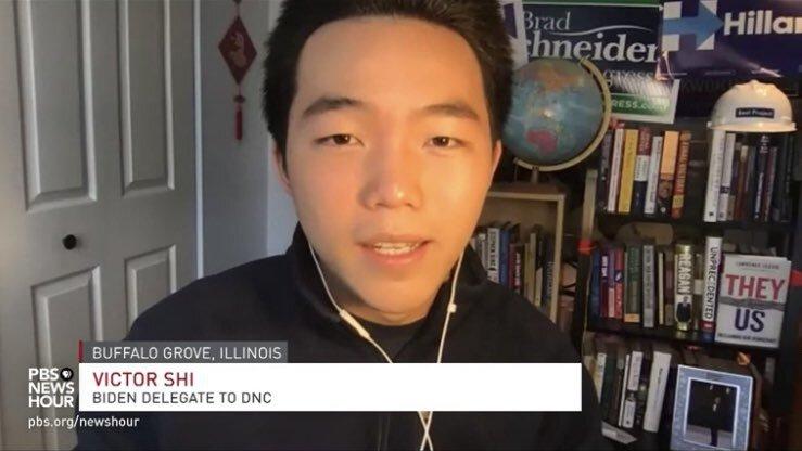 Victor Shi, youngest Joe Biden delegate in Illinois