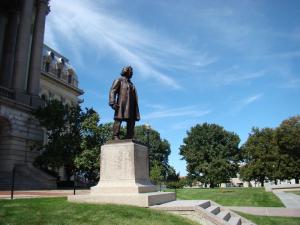 Stephen Douglas statue in Springfield, Illinois.
