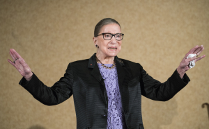 In this Aug. 19, 2016, file photo U.S. Supreme Court Justice, Ruth Bader Ginsburg, is introduced during the keynote address for the State Bar of New Mexico's Annual Meeting in Pojoaque. The Supreme Court announced Aug. 23, 2019, that Ginsburg has been treated for a malignant tumor.