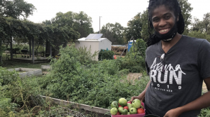 Ja Nelle Pleasure relies on her garden for fresh fruits and vegetables.