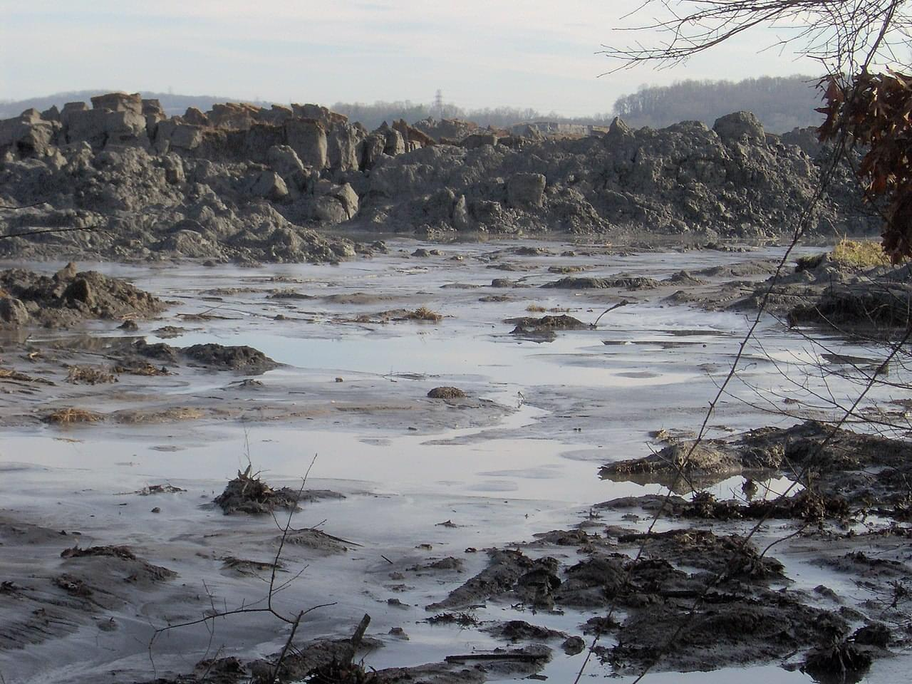 A view of the TVA Kingston Fossil Plant coal ash spill