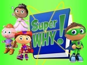 Cartoon characters from the PBSKids show SuperWhy!