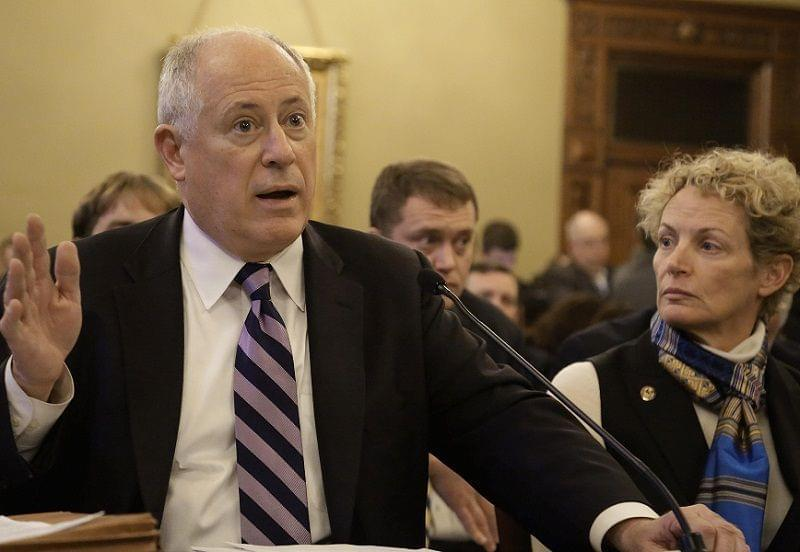 Illinois Gov. Pat Quinn and Illinois Rep. Elaine Nekritz, D-Des Plaines, testify during a House committee hearing at the Illinois State Capitol
