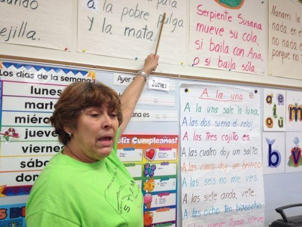 dual language teacher at Leal Elementary School