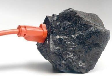 a piece of coal