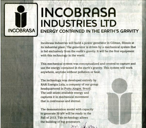 An advertisement from Incobrasa appeared in a Dec. 31, 2012 edition of the News-Gazette newspaper in Champaign.