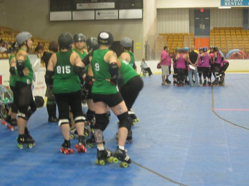 The Twin City Derby Girls and Cedar Rapids Roller Girls meet for a bout in Danville.