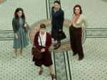 Shown from L-R: Sophie Rundle as Lucy, Anna Maxwell Martin as Susan, Julie Graham as Jean, Rachael Stirling as Millie.