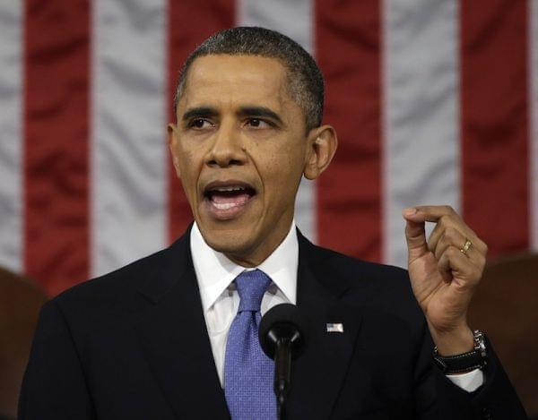 President Obama during State of the Union speech