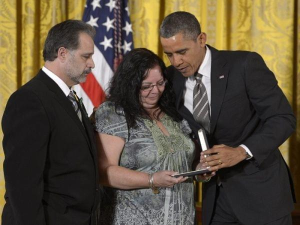 President Obama honors slain Sandy Hook teacher Victoria Soto.
