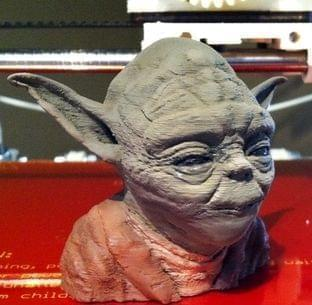 3-D printed bust of Yoda