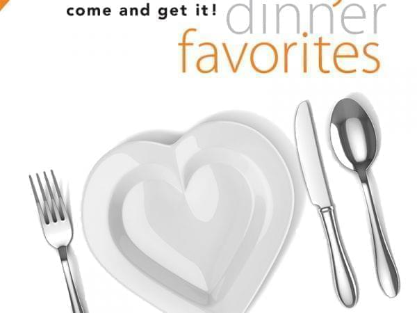 Cover of Patterns showing a place setting for Family Dinner Favorites Cooking Show
