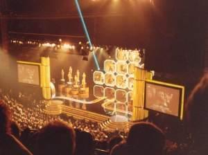 a photo from the audience at the Oscars in 1988