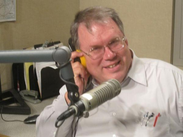 Jim Meadows in WILL's talk studio