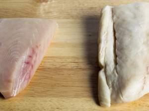 Escolar and Albacore tuna