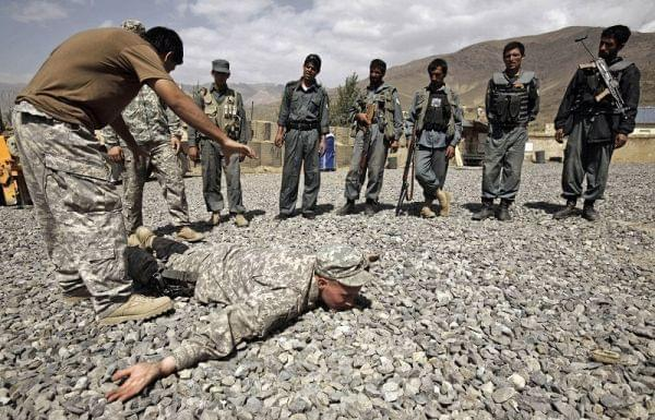 Training session for the Afghan National Police