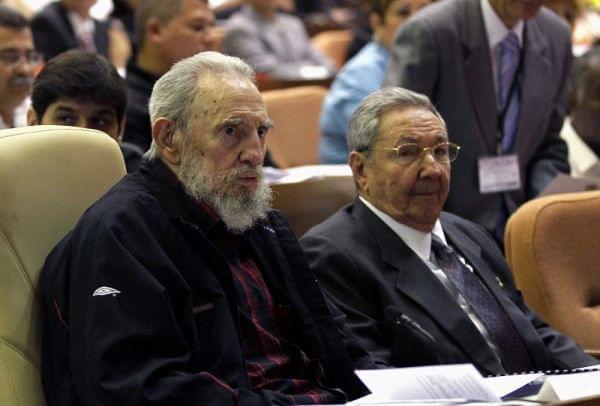 Fidel Castro and Raul Castro