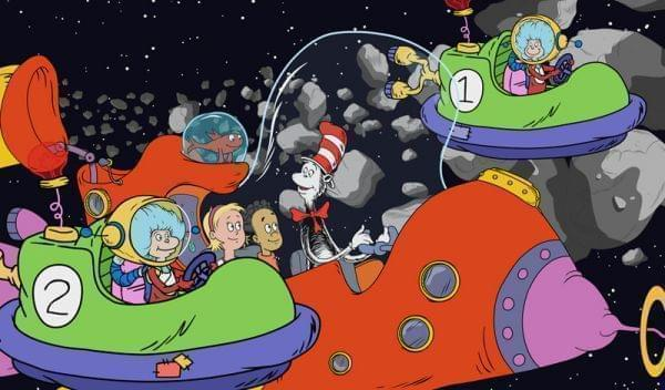 The Cat, Nick and Sally explore science concepts in a spaceship.