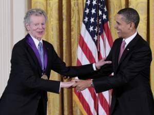 Van Cliburn meets President Barack Obama