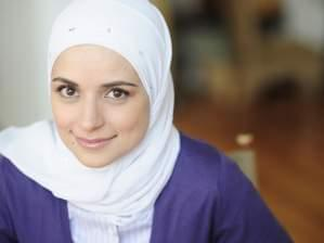 Mariam Sobh wearing a white hijab