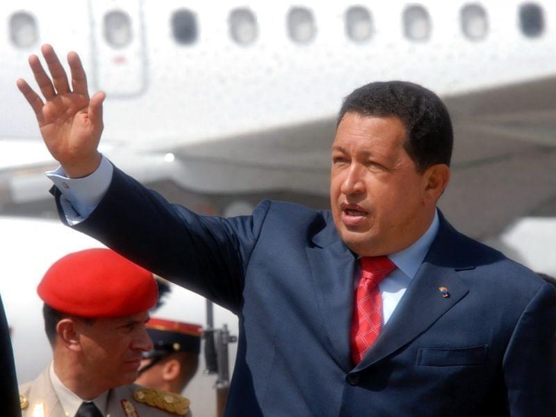 Hugo Chávez on a visit to Guatemala.