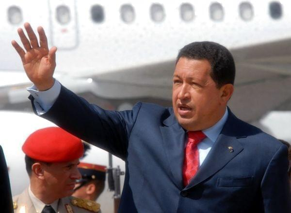 Hugo Chávez on a visit to Guatemala.