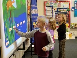 Gibson City first graders classify mammals in a PBS LearningMedia activity.