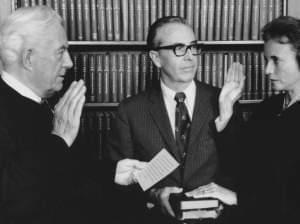 Sandra Day O'Connor sworn in