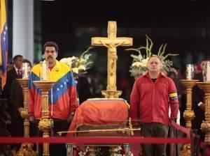 Hugo Chávez funeral body lying in state