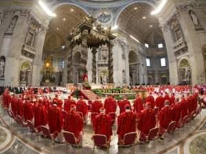 Cardinals attend a Mass