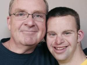 Tim Harris and his father, Keith