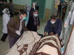 Syrian victims who suffered an alleged chemical attack