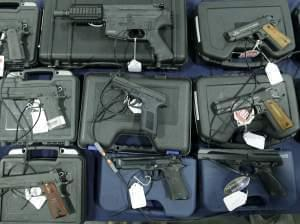 handguns displayed in Sandy, Utah