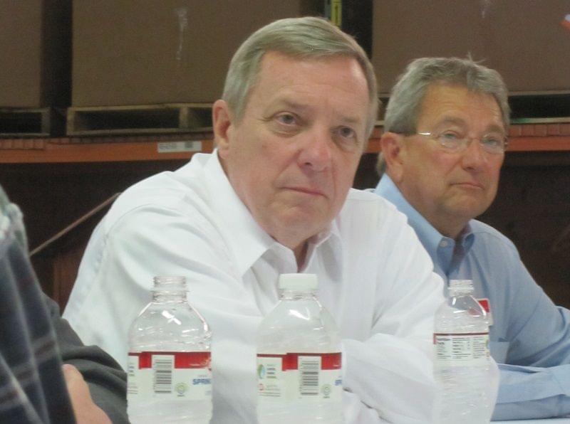 Dick Durbin and Jim Hires