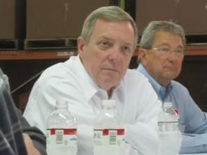 Dick Durbin and Jim Hires