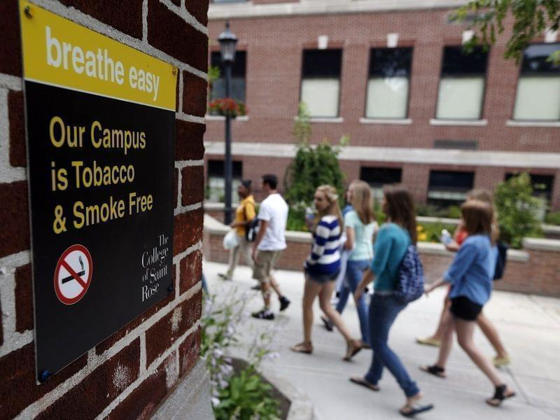 college campus smoking ban