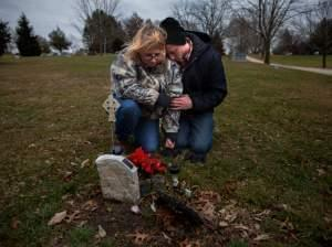 Will Piper and Annette Pacas visit the grave of Annette's son, Alex