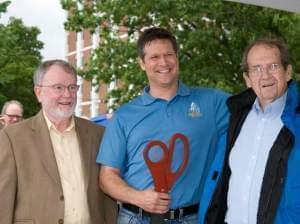 Former Champaign Mayor Robert Dodd, current Mayor Don Gerard, and former Mayor Jerry Schweighart.