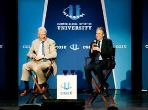 President Bill Clinton and John Steward