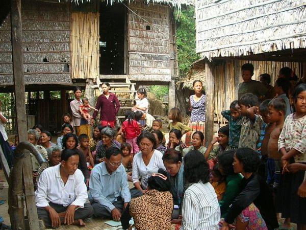 a village in Cambodia
