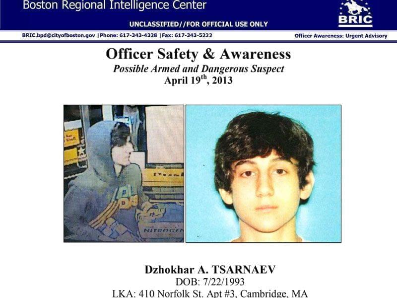 Poster from the Boston Regional Intelligence Center