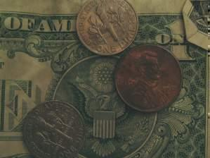 Dollars and pennies.