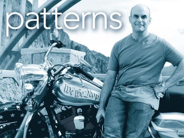 "photo of Peter Sagal, host of NPR's ""Wait, Wait … Don't Tell Me,"" travels cross-country on a customized Harley-Davidson to find out what the Constitution means in the 21st century."