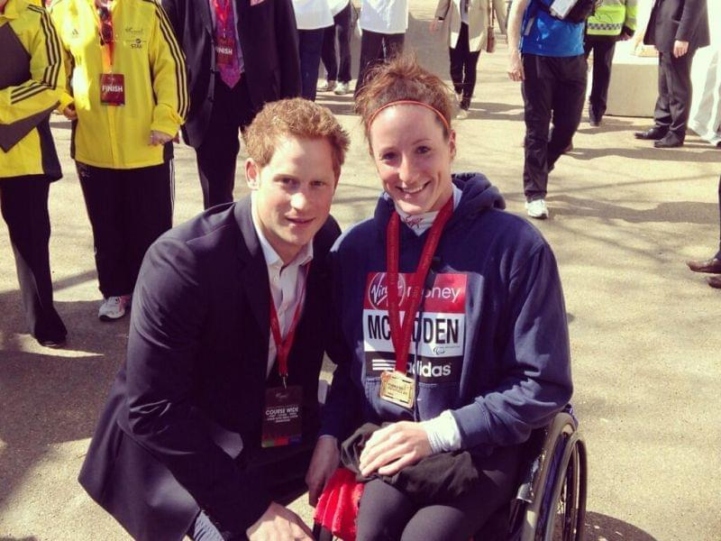 Tatyana McFadden and Prince Harry