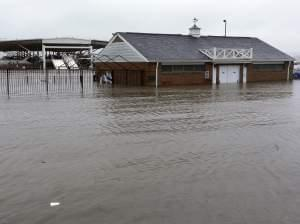 Illinois river flooding in peoria